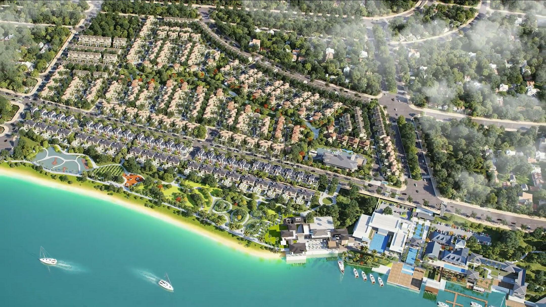 phối cảnh zone 8 marina villas