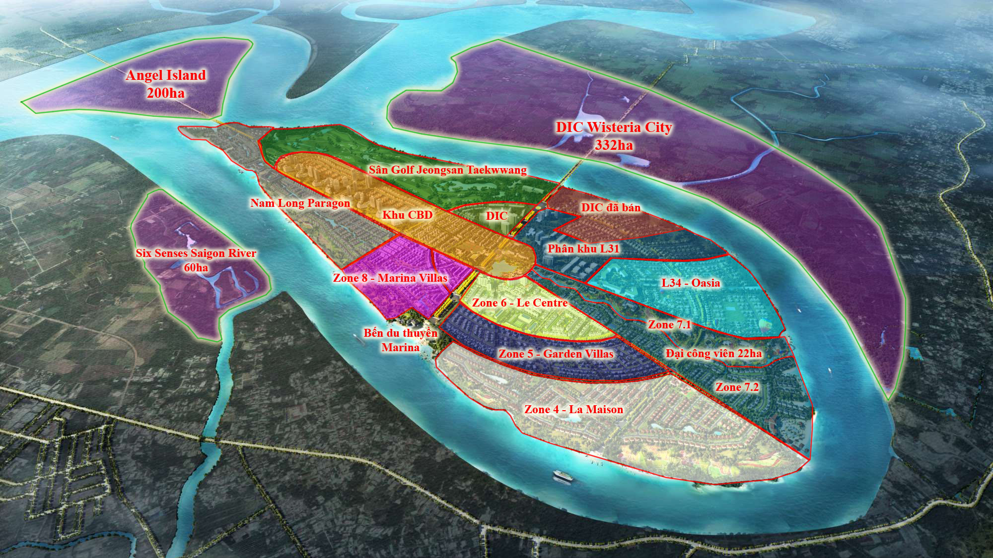 tổng mặt bằng đảo swanbay đại phước
